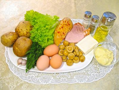 салат гнездо кукушки рецепт с фото
