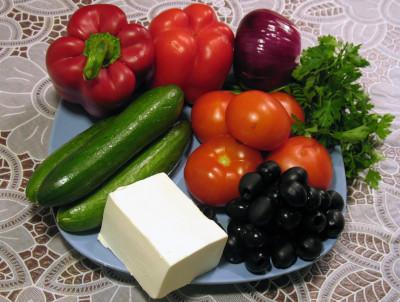 Фото продуктов для греческого салата