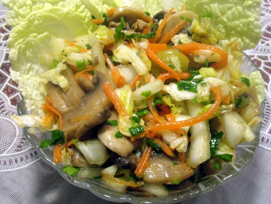 рецепты салатов с феты и пекинской