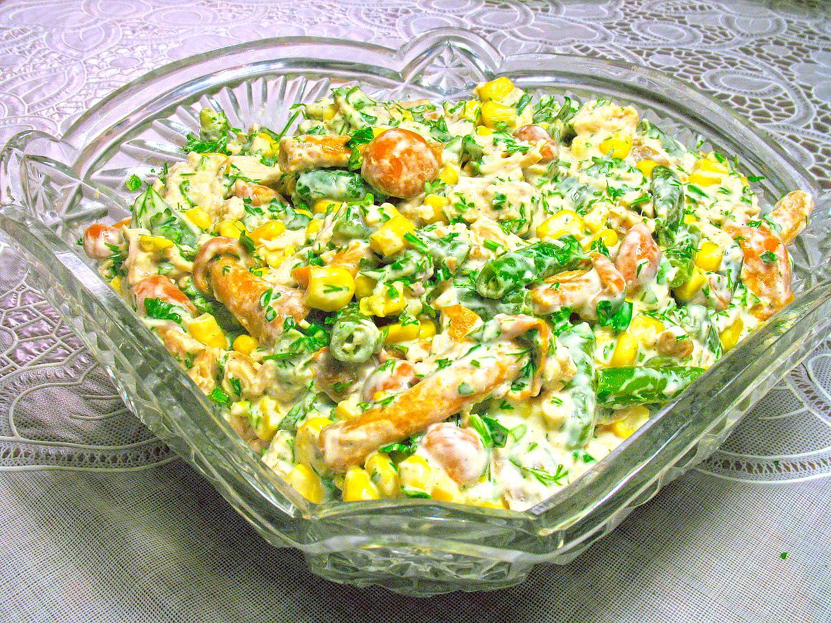 Салаты с растительным маслом рецепты с пошаговым фото