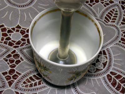 Фото этапа приготовления домашнего майонеза без яиц на молоке