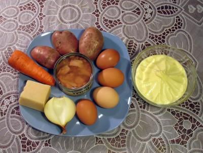 Фото продуктов для салата мимоза