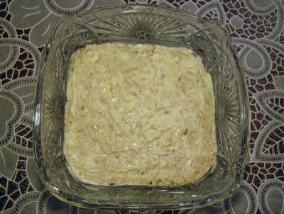 Фото этапа приготовления салата мимоза