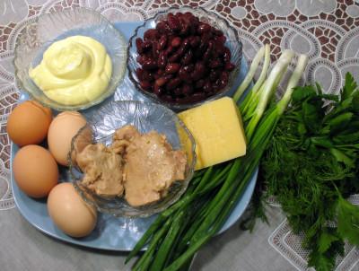 Салат из печени трески — фото продуктов