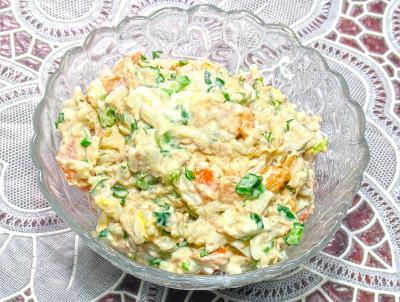 салат с тунцом консервированным рецепт с рисом