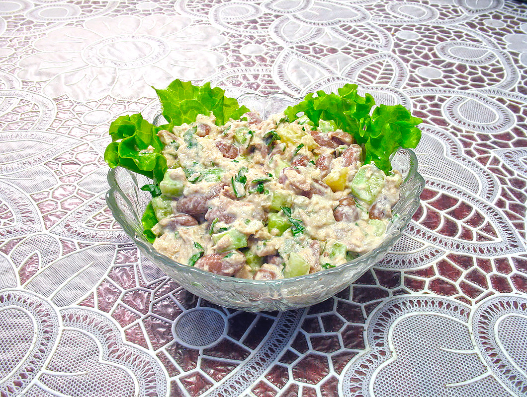 Рецепты салата из креветок с семгой