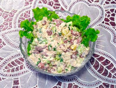 Салат из фасоли на стол рецепты