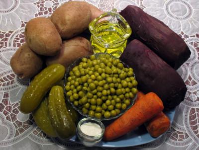 Фото продуктов для винегрета