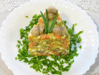Салат перець з шампіньйонами на зиму