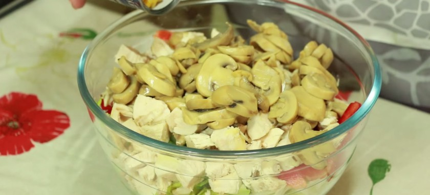 рецепт салата фантазия с капустой