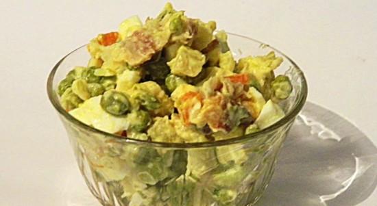 рецепты салатов оливье с рыбой