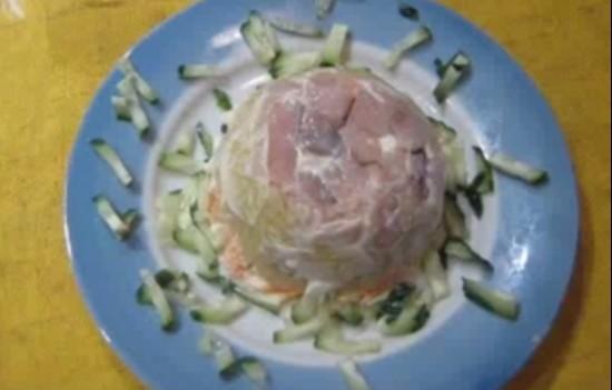 рецепты салатов с горбушей с фото
