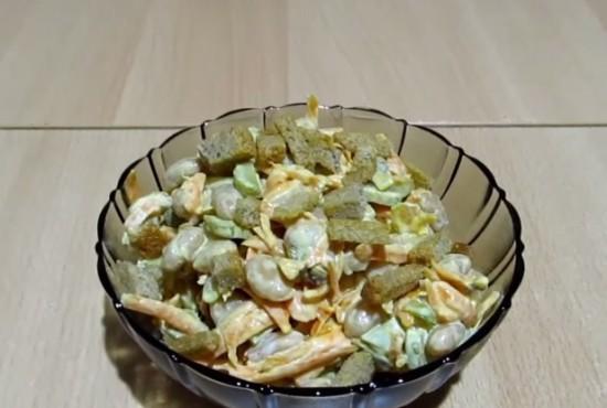 рецепты салатов на скорую руку с фасолью