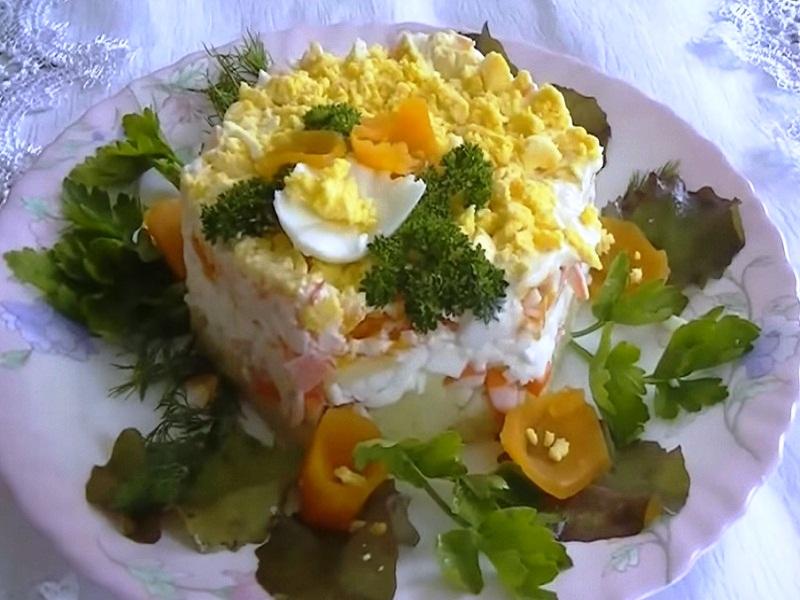 Рецепт салат мимоза с мясом