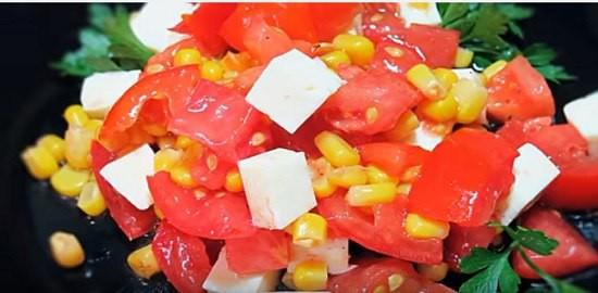 рецепт салат из сыра брынза и