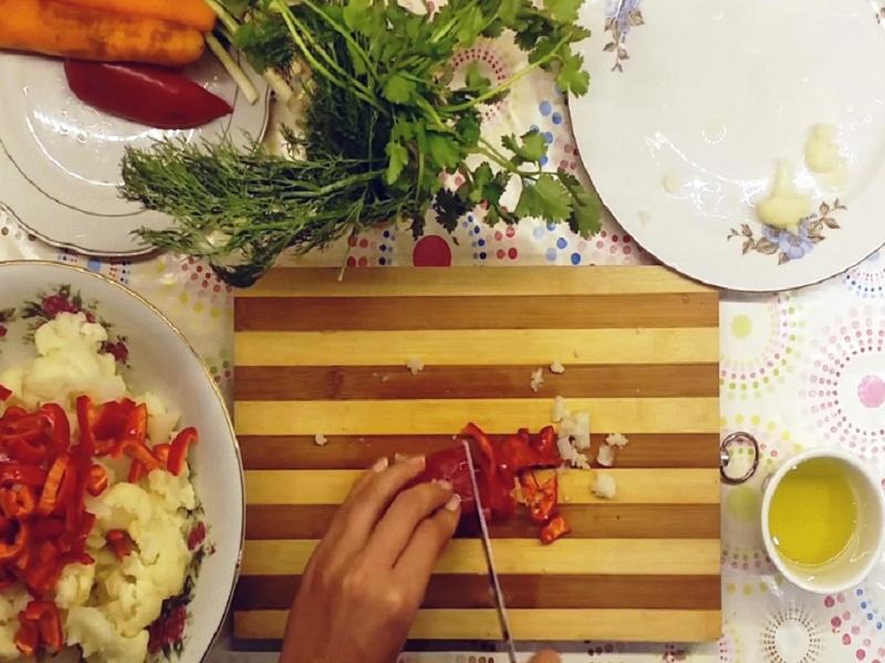 диетический салат с капустой простой рецепт