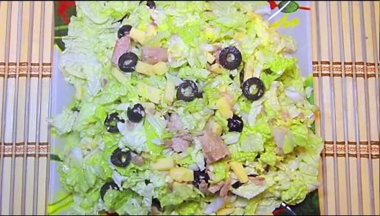 рецепты салатов с тунцом и пекинской капустой и