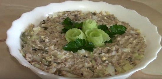 Салат из рыбных консервов с яйцом рецепты с
