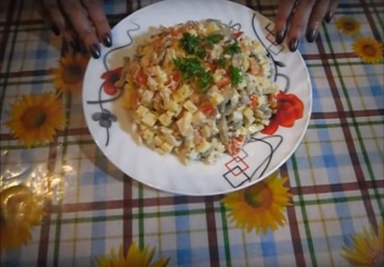 Салаты с шампиньонами и курицей рецепты пошагово