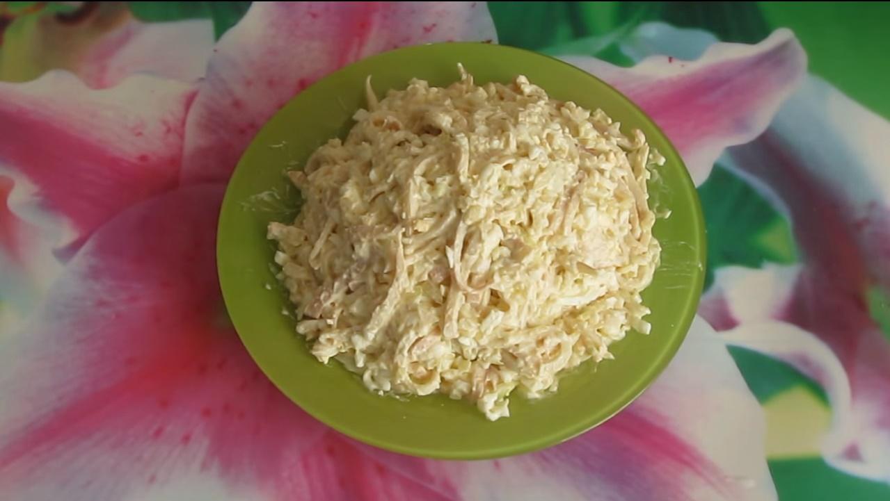 рецепты салатов с кальмарами классический рецепт