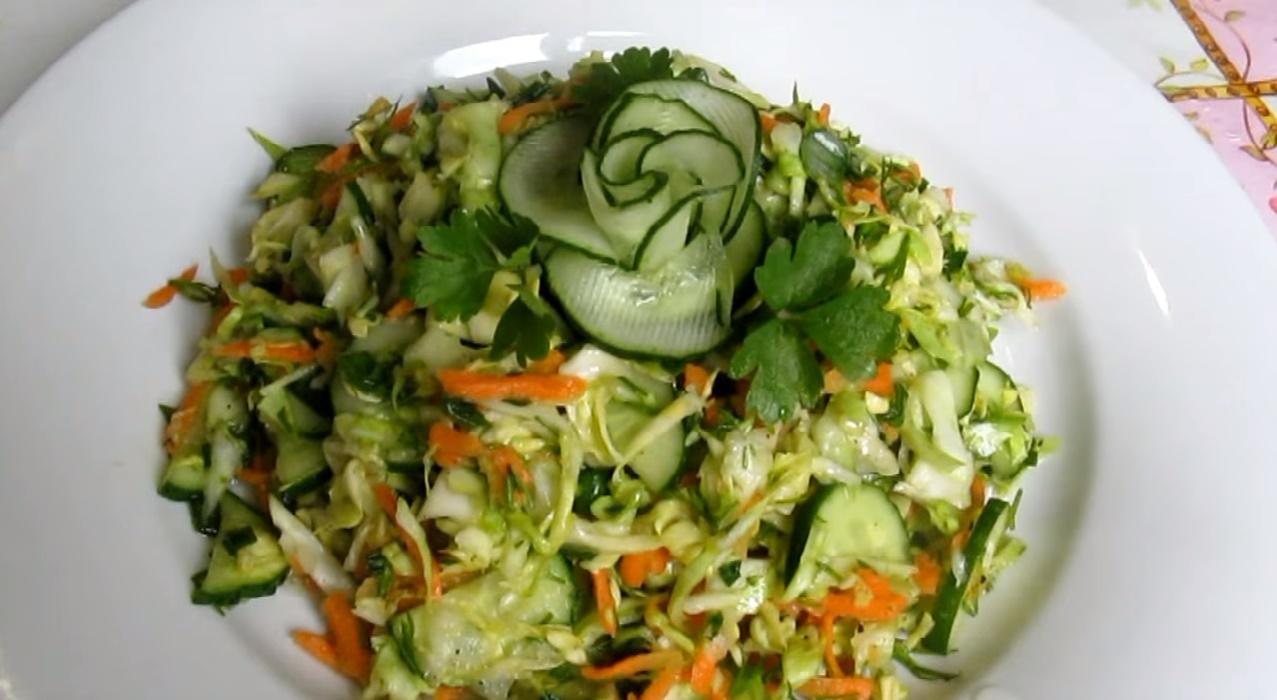 салаты легкие из капусты