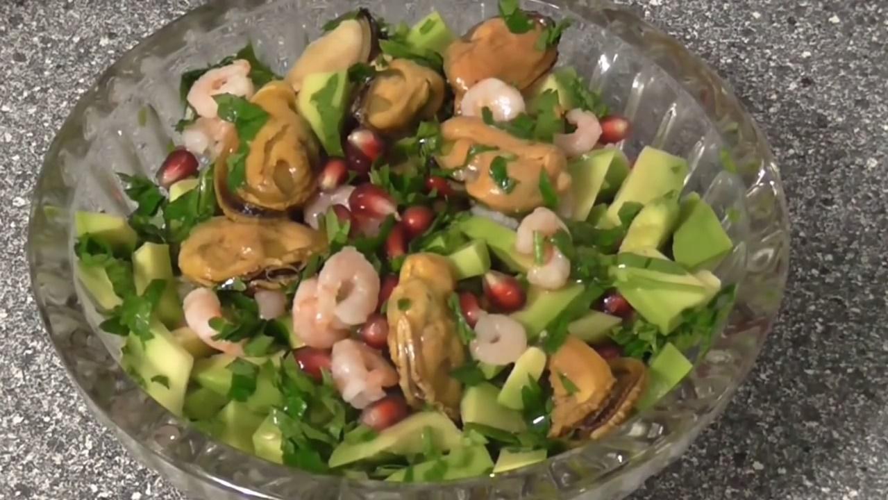 Салат из морепродуктовы с фото простые и вкусныеы фото