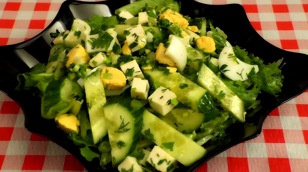 Пошаговые рецепты салатов с зеленью фото